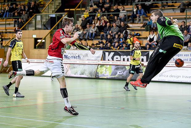 St. Gallen mod Aalborg Håndbold i EHF Cuppen i St. Gallen i Schweiz. ©Foto: Henrik Bo