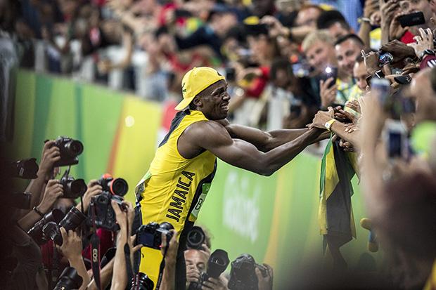 Atletik på Olympic Stadium hvor Usain Bolt styrer showet. ©Foto: Henrik Bo