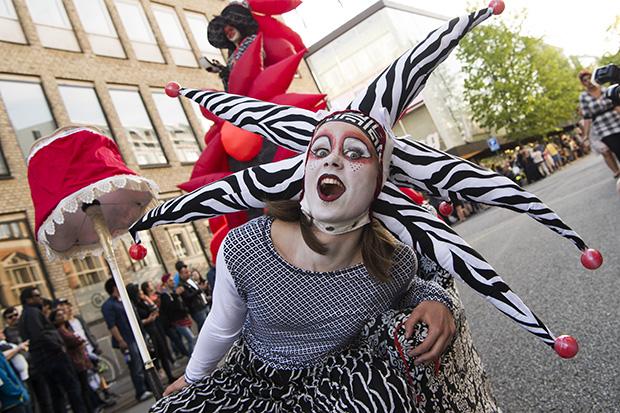 Aalborg Karneval 2017, de professionelle optræder. ©Foto: Henrik Bo